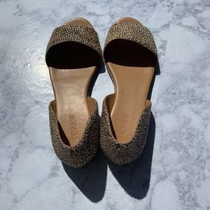 J CREW Cheetah print Sandals